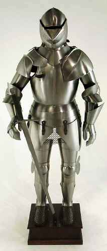 Jousting Suit Of Armor - Polished steel