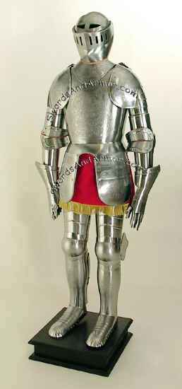 Etched Medieval  Suit Of Armor