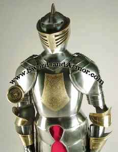 Spanish Suit Of Armor Torso Close Up View