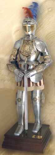 Brass Accent Spanish Suit Of Armor
