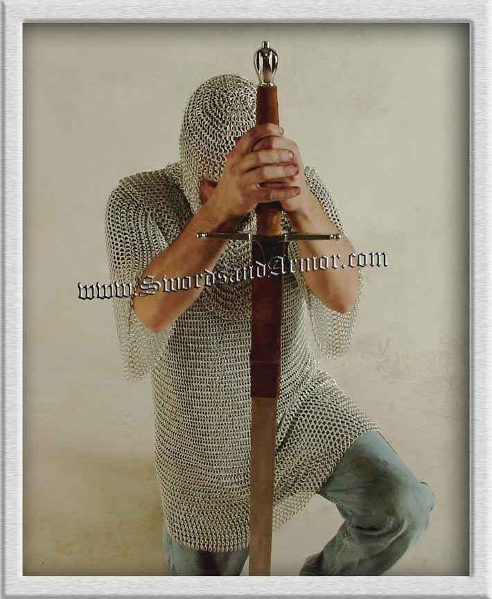 Chain Mail Shirt - Kneeling