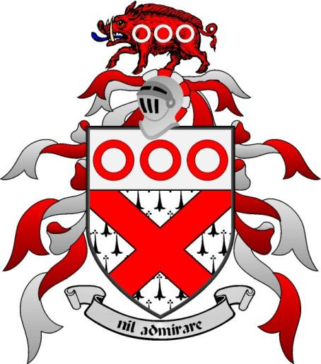 Fitzgibbons family coat of arms - associated with original white knight