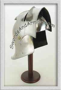 German sallet medieval helmet with open visor
