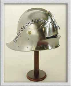 German sallet helmet on stand