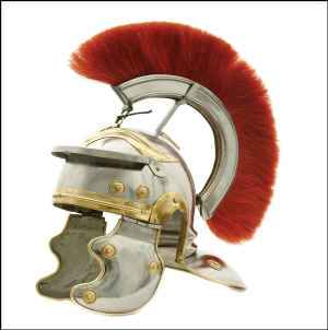 Roman Centurian Helmet with red horse hair crest