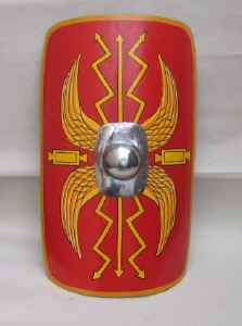 Roman Shield in red and gold
