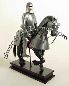 MIN0660 Miniature Horse-Mounted Knight