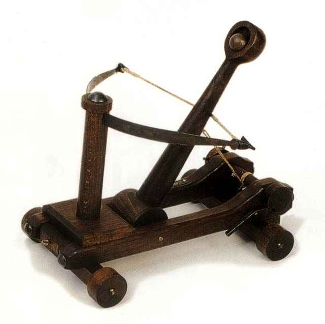 Miniature Catapult Siege Weapon