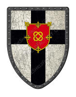 Black Cross with red shield center