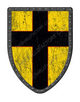 Black and Gold Cross shield