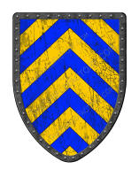 Chevronny of Ten Blue and Gold shield