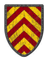 Chevronny of Ten Red and Gold battle shield