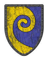 Gyronnant Blue and Gold shield