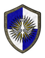 Holy Ghost medieval shield
