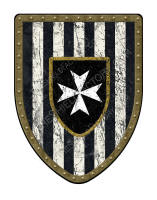 Hospitaller Paly shield