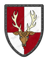 Quarterly Stag battle shield