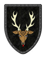 Stag on Black shield