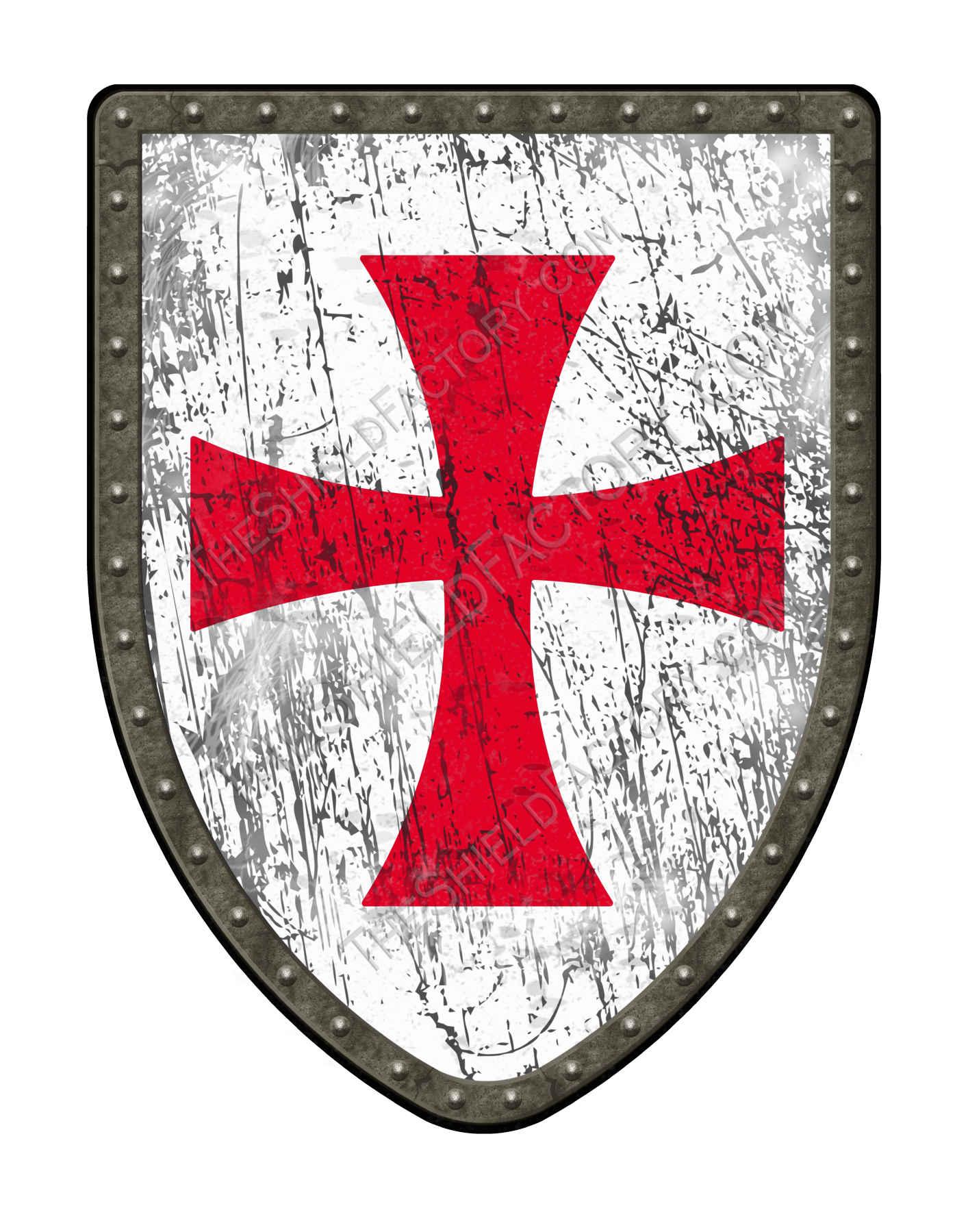 Templar Distressed Medieval Shield