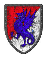 Wyvern per Bend Sinister shield