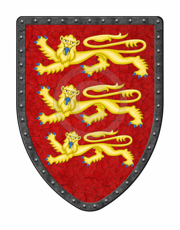 Richard Lionheart medieval shield