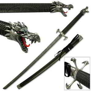 Dragon Claw Samurai Sword with Dragon Head and claw pommel and hilt
