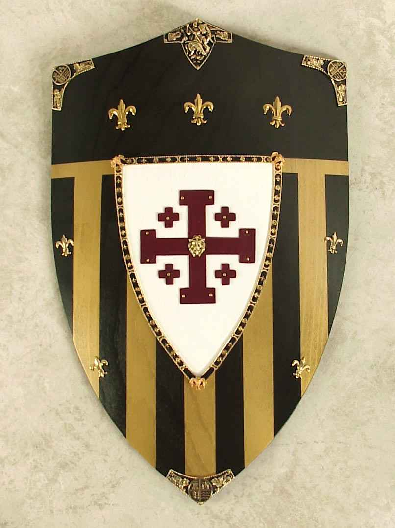 Jerusalem Medieval Shield - Wooden