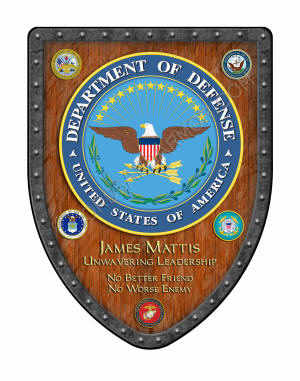 Military award shield to General Mattis