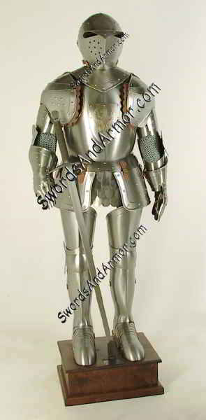 Sentinel Medieval Suit Of Armor On Stand With Sword