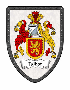 Talbot Family Coat of Arms on Display Shield