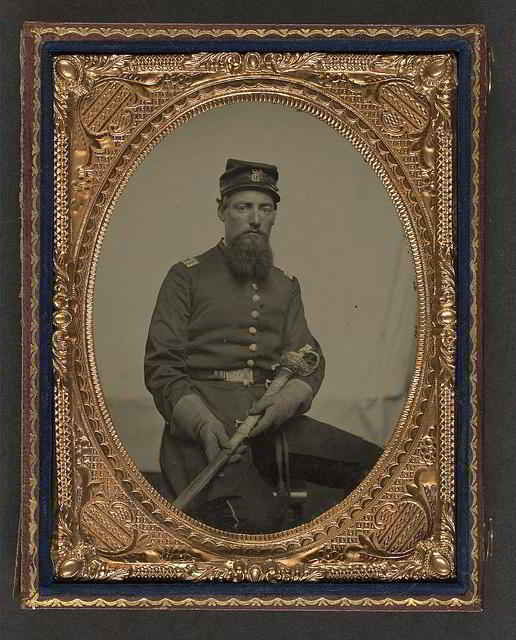 Union Officer portrait shown with sword