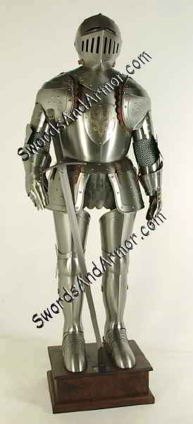 White Knight Suit of Armor - Front View
